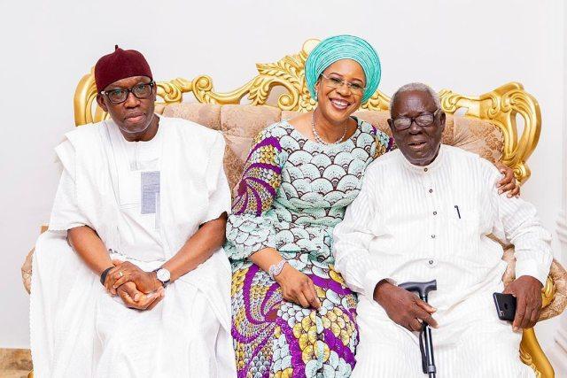 From Right: Sir Arthur Okorie Okowa, Dame Edith Okowa and Senator Ifeanyi Arthur Okowa