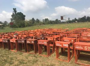 The New Students' Furniture for Comprehensive High School Igbodo donated by Comprehensive High School Old Students Association, CHISOSA