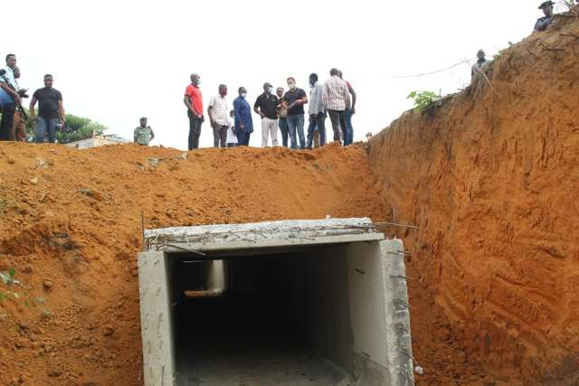 Inspection of Warri Flood Control Project by Officials of Delta State Government and Contractors on Thursday, January 21, 2021