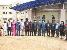 Group Photograph of Delta Lawmakers and Stakeholders in the Education Sector in Delta State during the Public Hearing of the 3 Proposed Universities in the State.