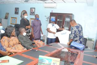 Courtesy Visit by members of Parasitology and Public Health Society of Nigeria (PPSN) and Delta State Primary Health Care Development Agency (DSPHCDA) Prof Andy Ogochukwu Egwuyenga, Vice Chancellor, Delta State University.