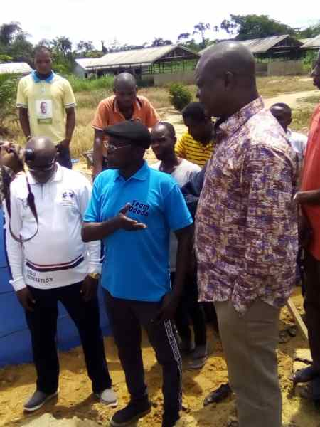 Hon. Ferguson Onwo (right) on an Inspection Visit to the failed section of Umeh Road