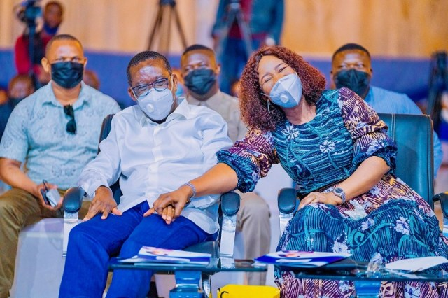 Delta State Governor, Senator Ifeanyi Okowa and Wife, Dame Edith Okowa at the 2021 Edition of Couples Forum on Saturday, May 15, 2021 at Dome Event Center, Asaba
