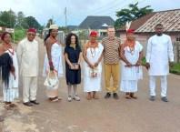 Omu Anioma, Obi Martha Dunkwu (middle) With American Researchers, Others