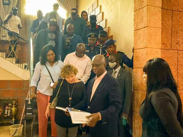 British High Commissioner to Nigeria, Catriona Laing with Prince Ned Nwoko on a visit to Mount Ned Nwoko Resort in Idumuje-Ugboko, Delta state