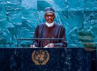 President Muhammadu Buhari at the 76thsession of the United Nations General Assembly (UNGA).