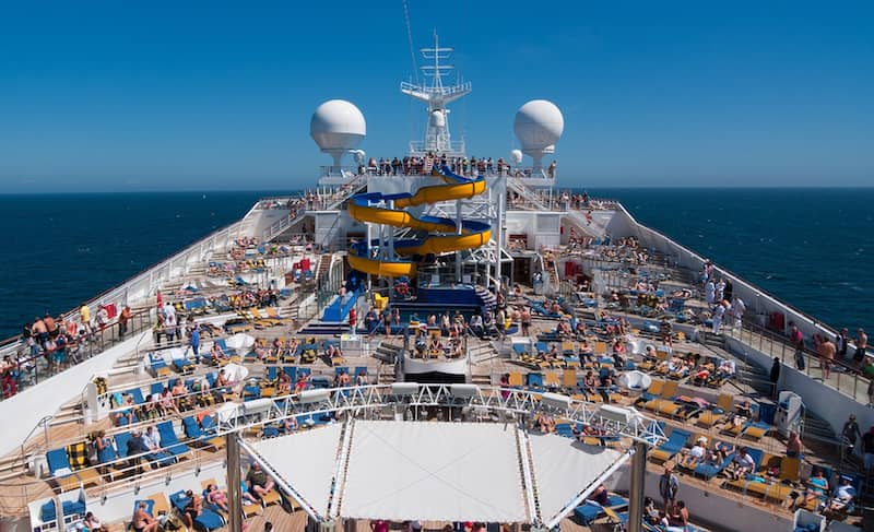 A cruise ship: a horrible place to holiday
