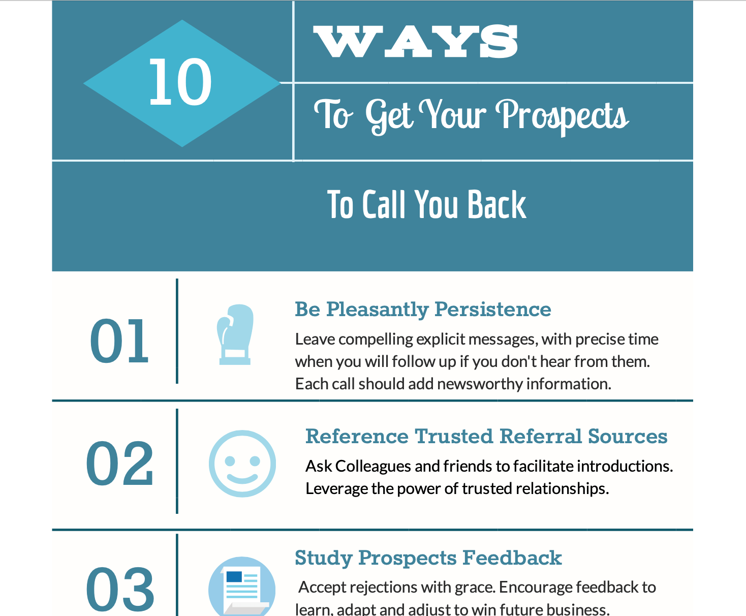 10 Ways to Get Your Prospect to Call You Back