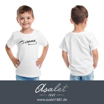 Mustafa Kemal Atatürk imzali Cocuk T-Shirtü