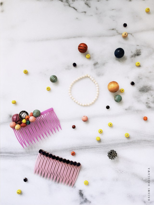diy beaded hair comb