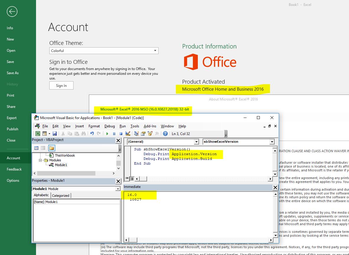 Asap Utilities For Excel Blog For Developers Application Rsion Returns 16 0 For Both