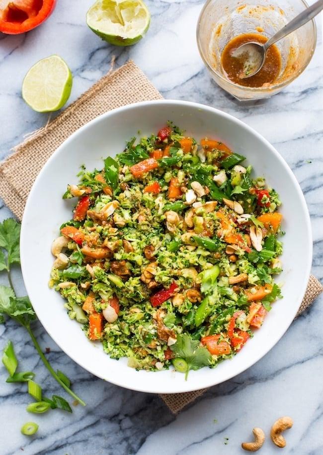 Chopped Thai Broccoli Salad