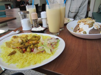 Plates of afghani food