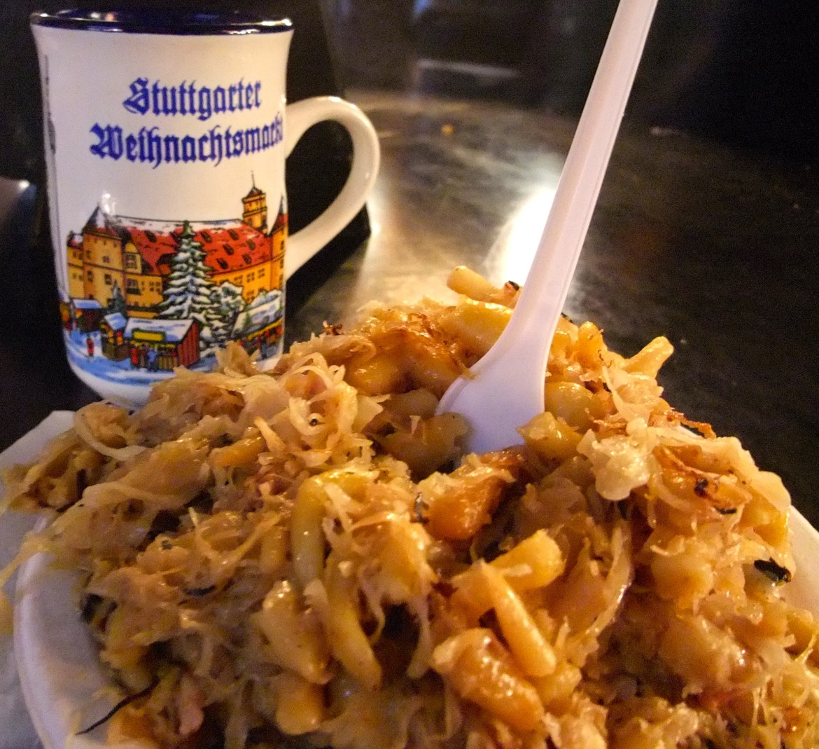Traditional German Christmas market food
