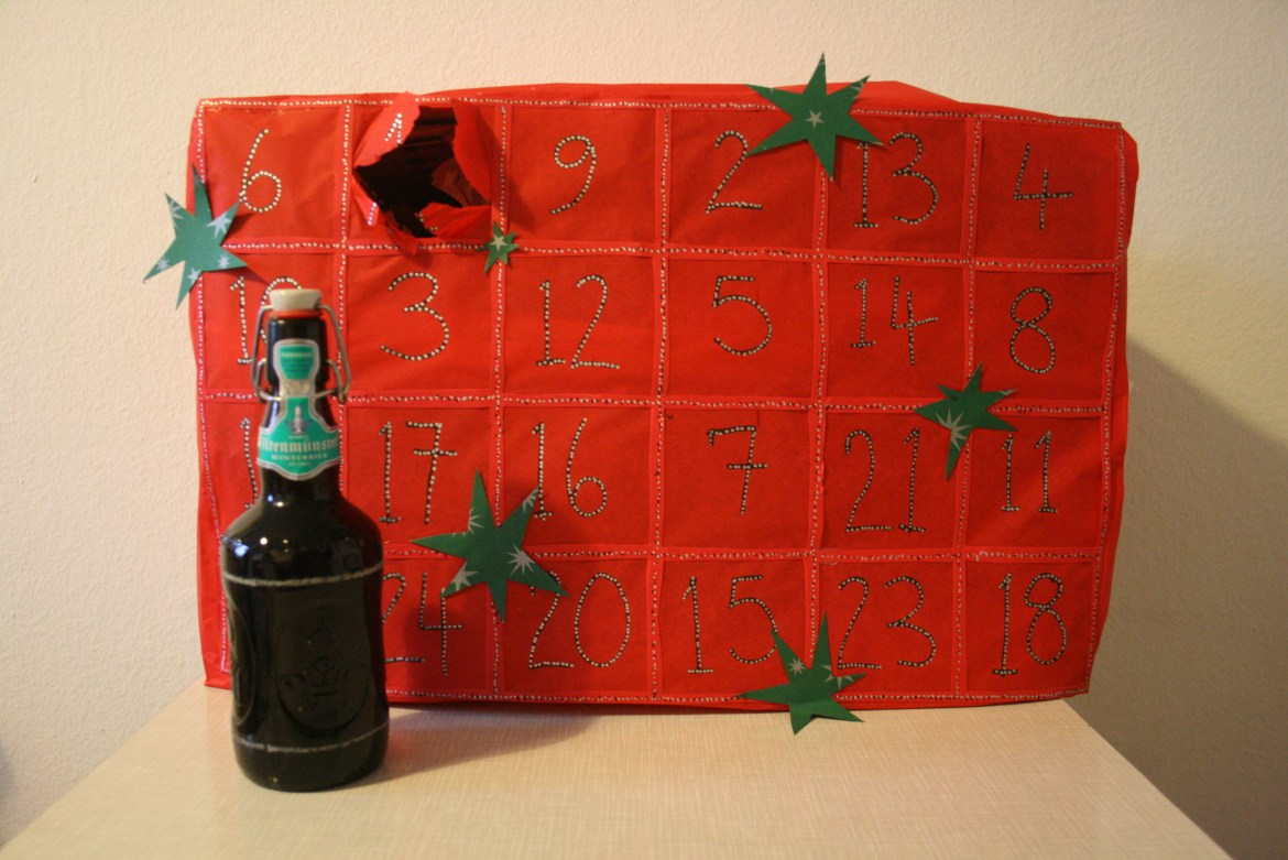 Homemade beer advent calendar
