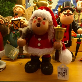 A wooden German Christmas ornament