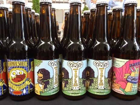 Bottles of craft beer