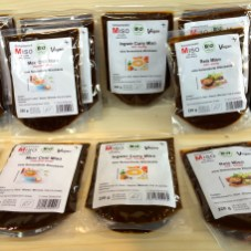 Packets of miso made in the Black Forest, Germany