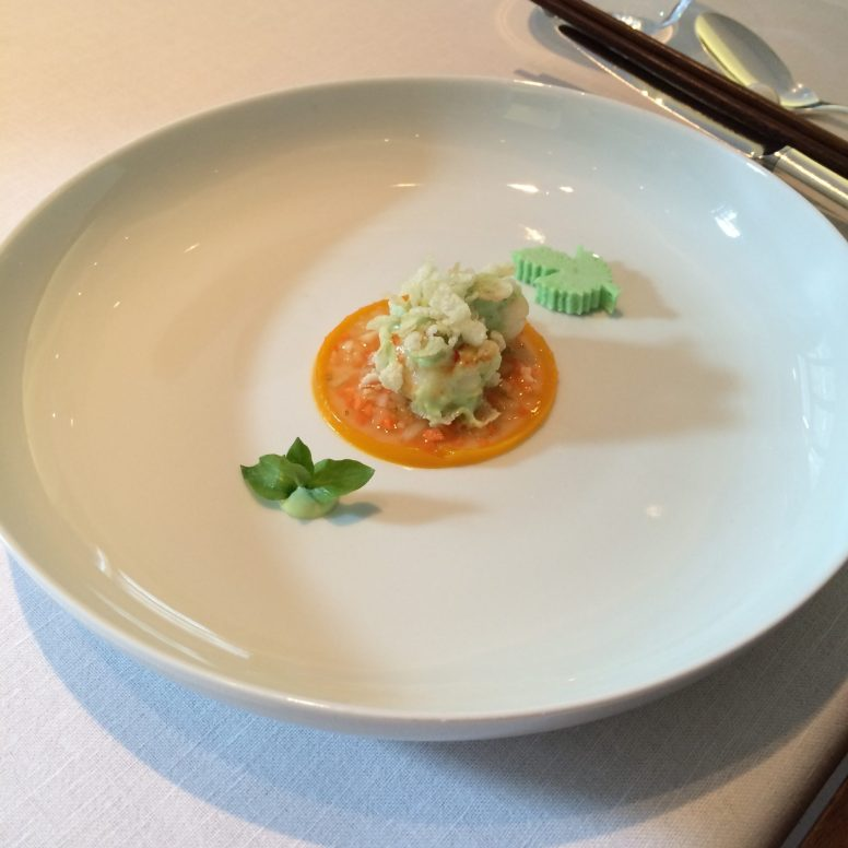 Wasabi langoustine at Tim Raue