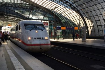 An Inter-City Express train in Berlin