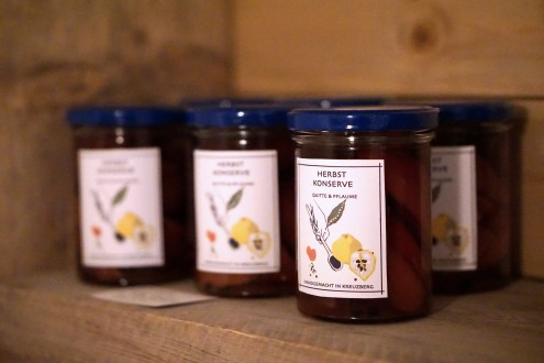 Jars of preserves at Daheim Manufaktur Berlin