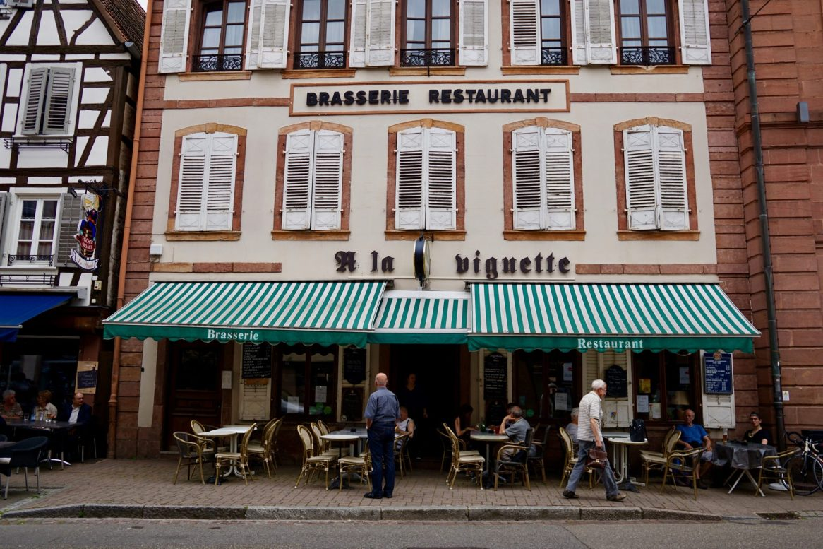 A restaurant front in Wissembourg Alsace