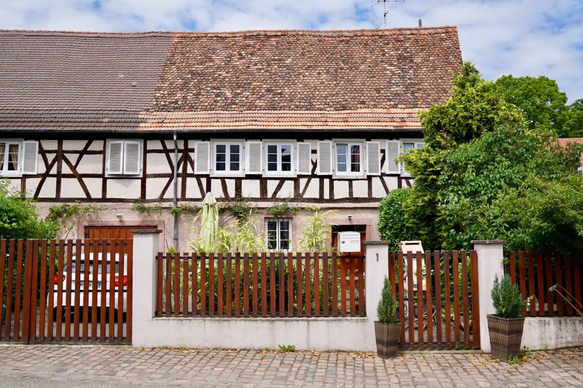Half-timbered house in Wissembourg Alsace