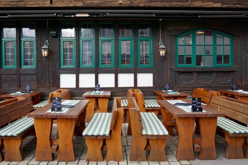 The exterior of a half-timber restaurant in Sindelfingen