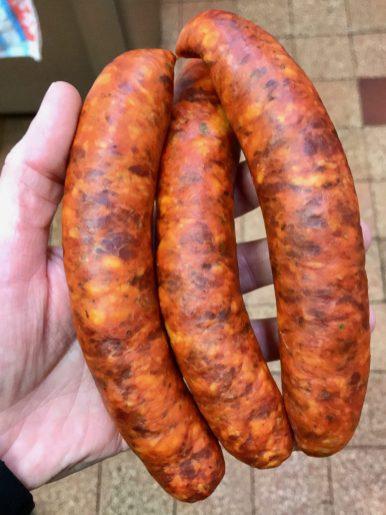 Three chorizo sausages in Berlin