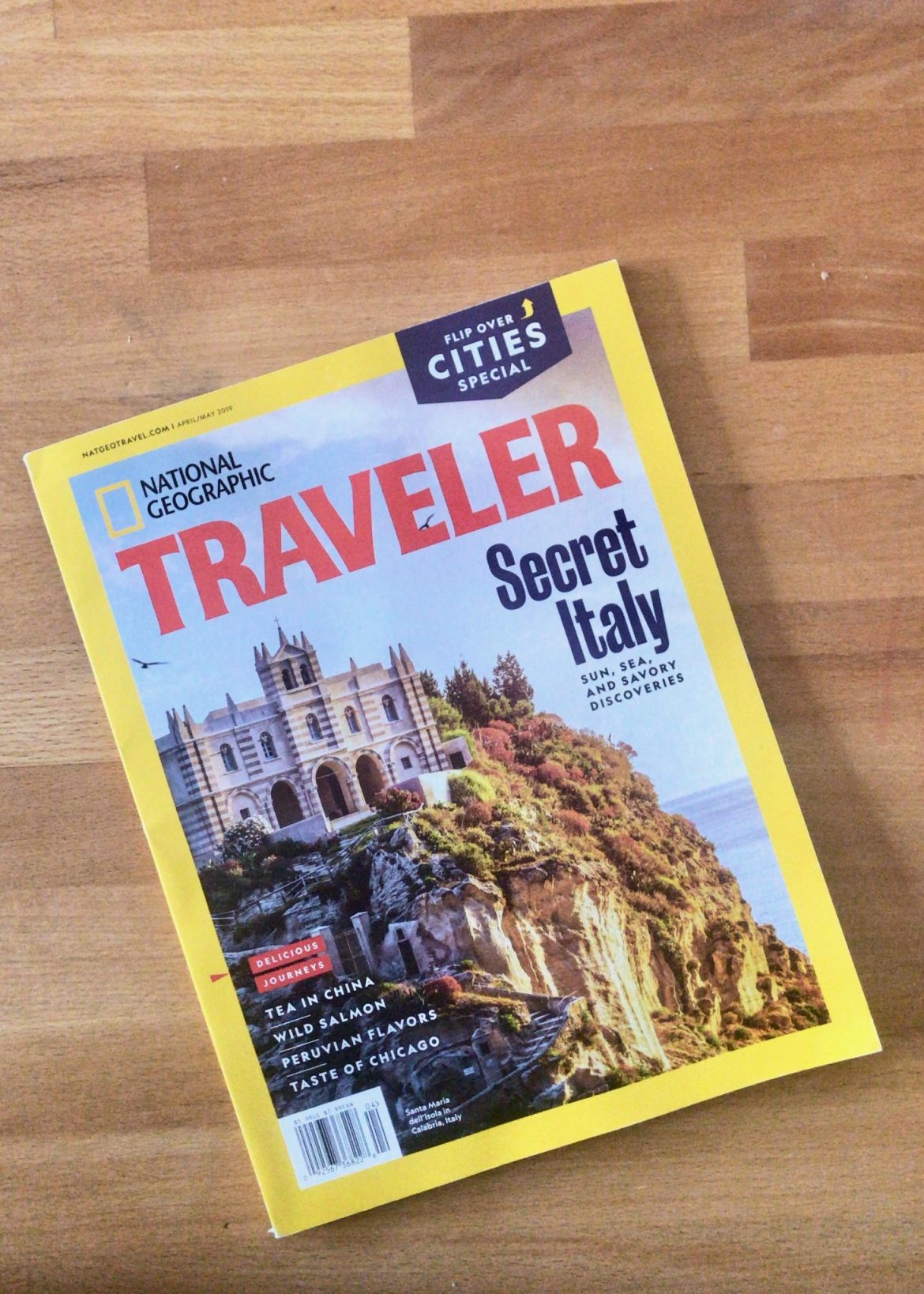 The April/May issue of National Geographic Traveler US