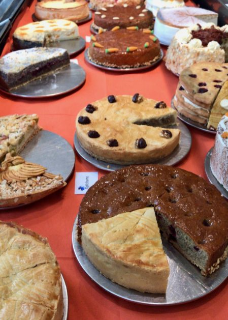 A selection of cakes at Domäne Mechtildshausen