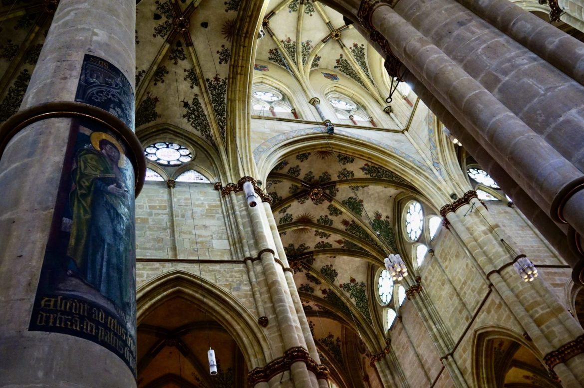The arched ceilings of Liebfrauenkirche Trier