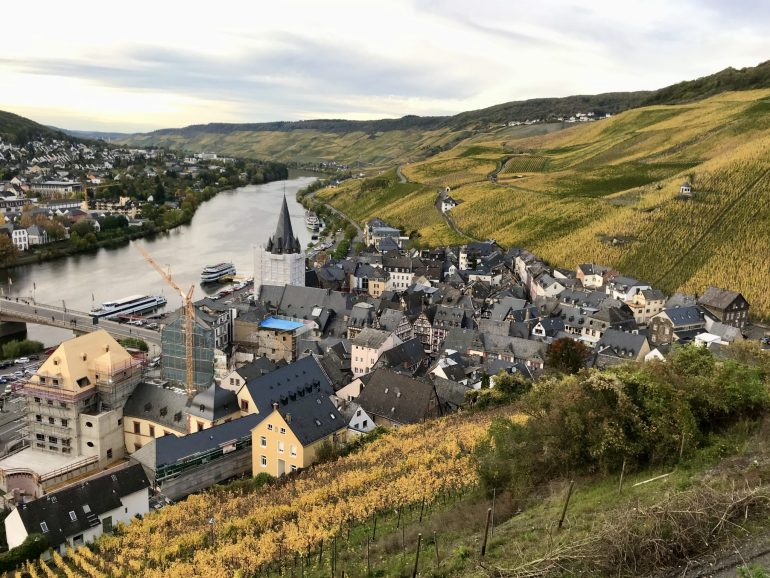 View of Bernkastel and the Mosel vineyards from Bernkastel Castle