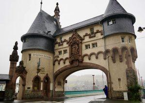 The Brückentor at Traben-Trarbach in the rain