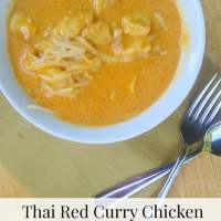 Thai Red Curry Chicken with Rice Noodles {Trader Joe's Recipe}