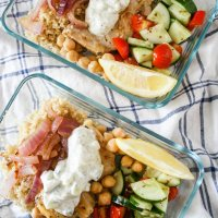 Greek Chicken Meal Prep Bowls