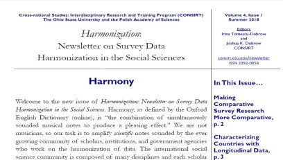 Harmonization Newsletter v4n1 Summer 2018