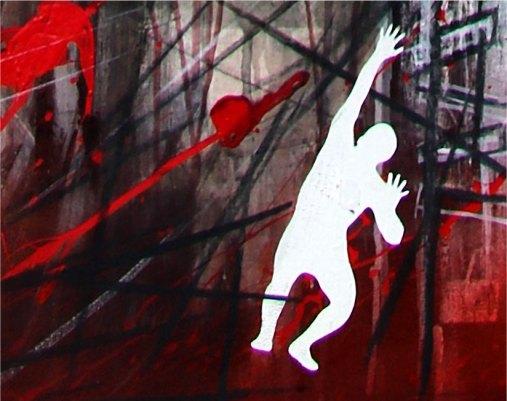 ANGUSTIA - Acrylic on canvas - Detail - (Ascanio Cuba)