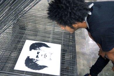 "DIARIOS I/X - Mirroring ""Che"" - Screen printing - Detail - (Ascanio Cuba)"