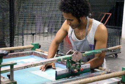 DIARIOS VI/X - Trabajo voluntario - Screen printing - Detail - (Ascanio Cuba)