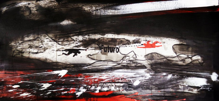 Climbing - Mix on canvas - (Ascanio Cuba)