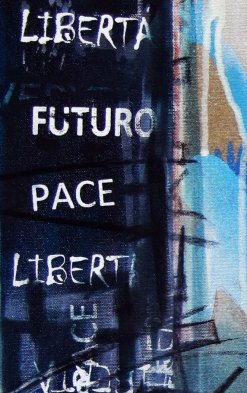 LUCE - Mix on canvas - Detail - (Ascanio Cuba)