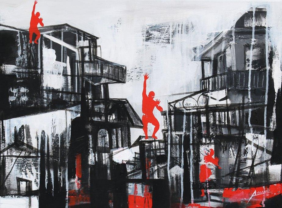 SCALANDO - Mix on canvas - (Ascanio Cuba)