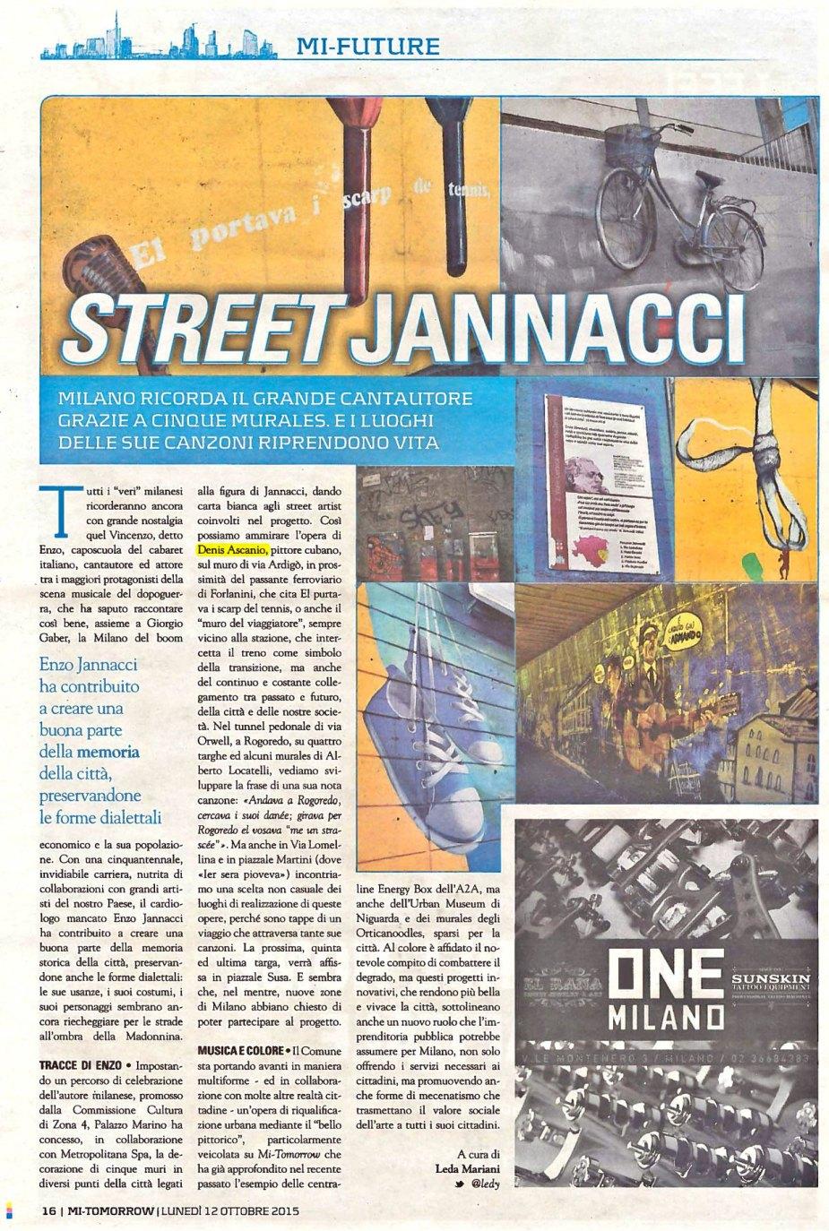 STREET JANNACCI - News - (Ascanio Cuba)