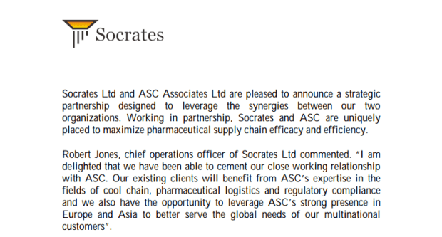 ASC Socrates Strategic Alliance