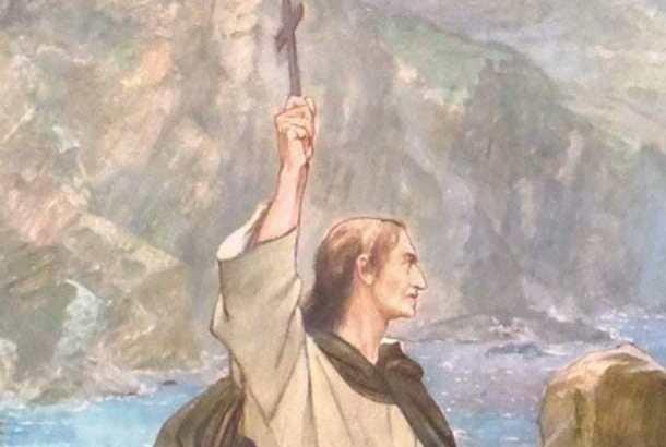 St. Columba raising the cross. William Hole, 1899