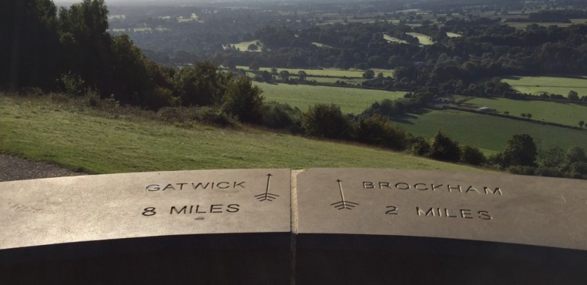 View from top of Box Hill Surrey UK