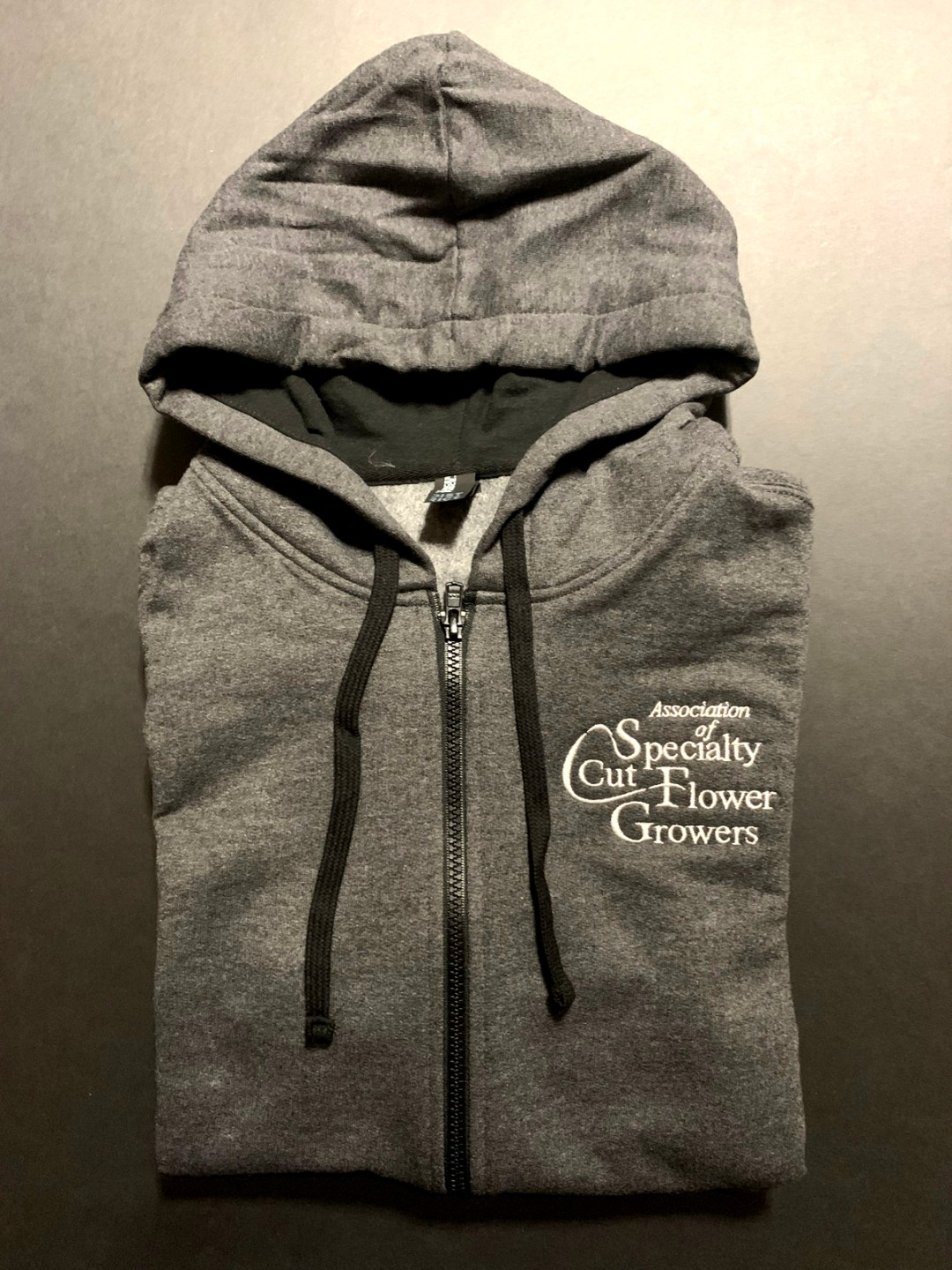 Hoodie heavy charcoal - ASCFG Logo Apparel