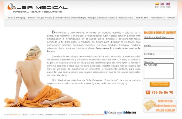 Albir Medical - Diseño web a medida