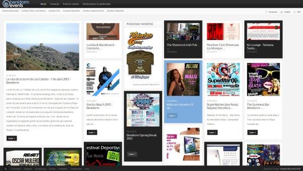 Benidorm Events - Portal de información de eventos
